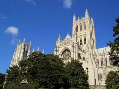Exterior View of the South side of the National Cathedral, Wash, DC