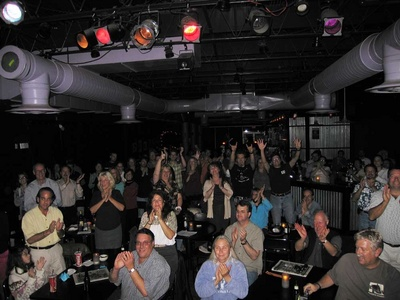 Hidayo's picture of us, the crowd, from onstage at Jammin' Java 10/19/06