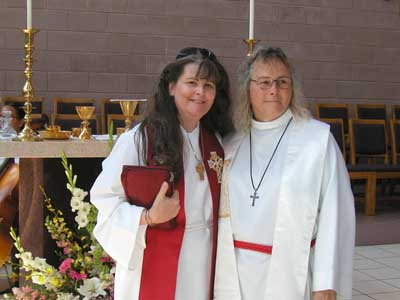 Rev Emma left, Rev Janet Avery on the right